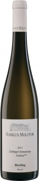 Weingut Markus Molitor - 2013 Riesling Auslese ** feinherb Zeltinger Sonnenuhr