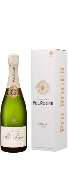 Champagne Pol Roger - Champagne Brut Réserve Blanc 'white foil' mit Etui