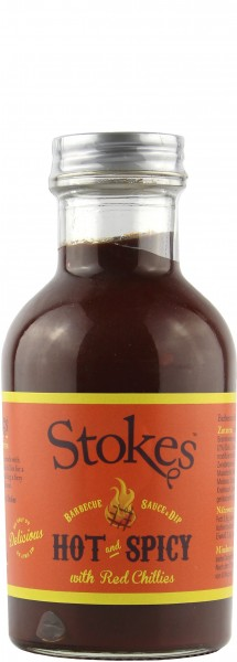 Stokes Sauces - Hot & Spicy Barbecue Sauce & Dip 267 ml