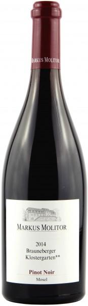 Weingut Markus Molitor - 2014 Pinot Noir Brauneberger Klostergarten **