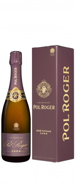 Champagne Pol Roger - 2008 Champagne Vintage Rosé mit Etui