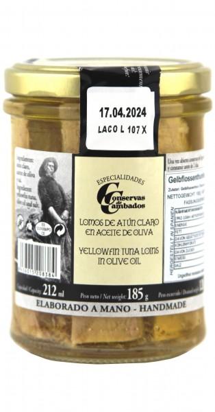 Conservas de Cambados - Lende vom Gelbflossenthunfisch in Olivenöl, 185 g
