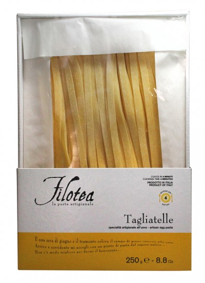 Filotea Tagliatelle 250 G La Pasta Artigianale Eierteignudeln